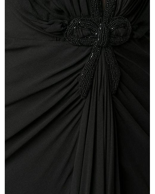 Ports 1961 シアーパネル ドレス Black