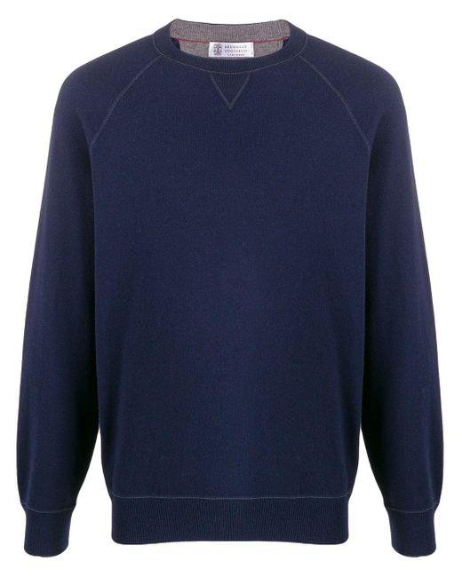 メンズ Brunello Cucinelli スウェットシャツ Blue