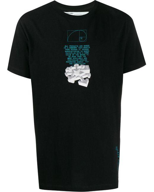 メンズ Off-White c/o Virgil Abloh Dripping Arrows Tシャツ Black