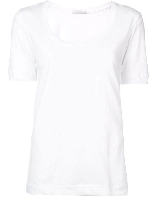 Adam Lippes スクープネック Tシャツ White
