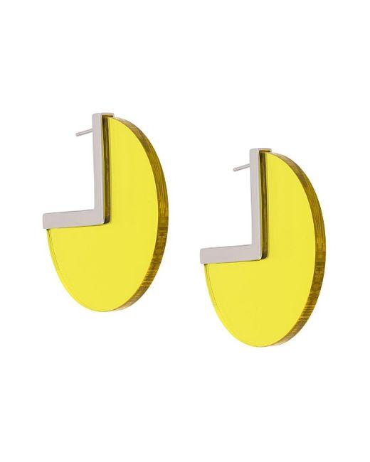 Isabel Marant バイカラーピアス Yellow