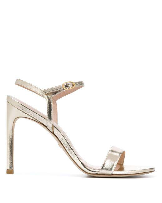 Stuart Weitzman Metallic Strappy High Heel Sandals