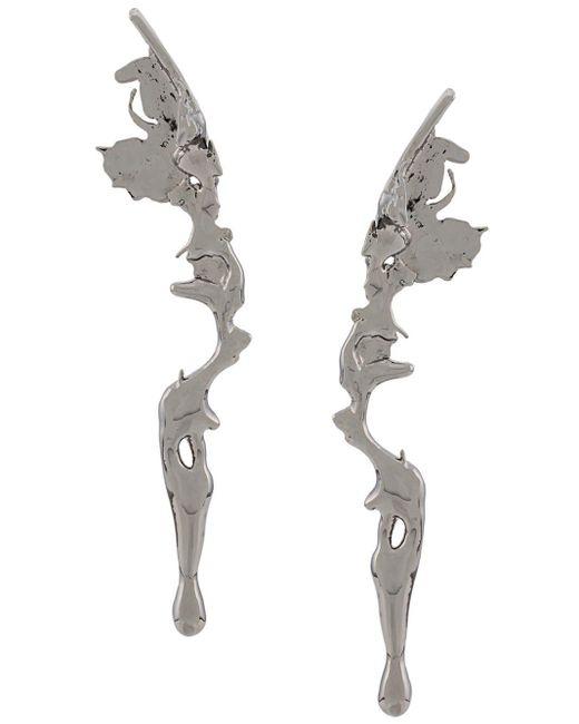 Annelise Michelson Metallic Medium Lava Earrings