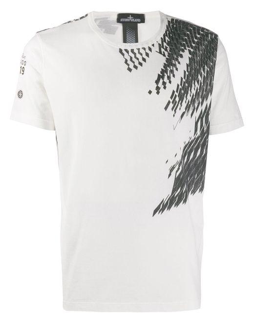 メンズ Stone Island Shadow Project プリント Tシャツ White
