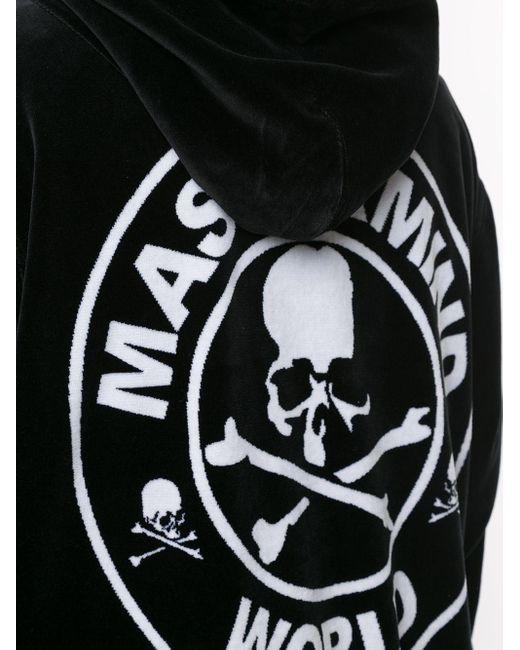 メンズ MASTERMIND WORLD スカル ジップアップ パーカー Black