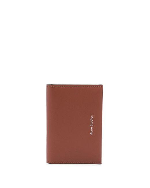 Картхолдер С Тисненым Логотипом Acne, цвет: Brown