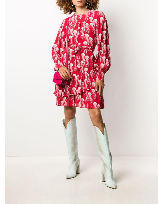 N°21 プリント ドレス Red