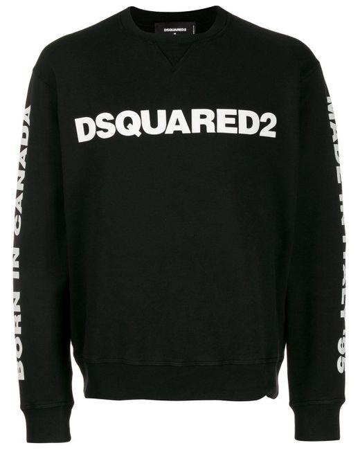 メンズ DSquared² ロゴ スウェットシャツ Black