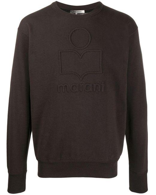 メンズ Isabel Marant Mike ロゴ スウェットシャツ Black