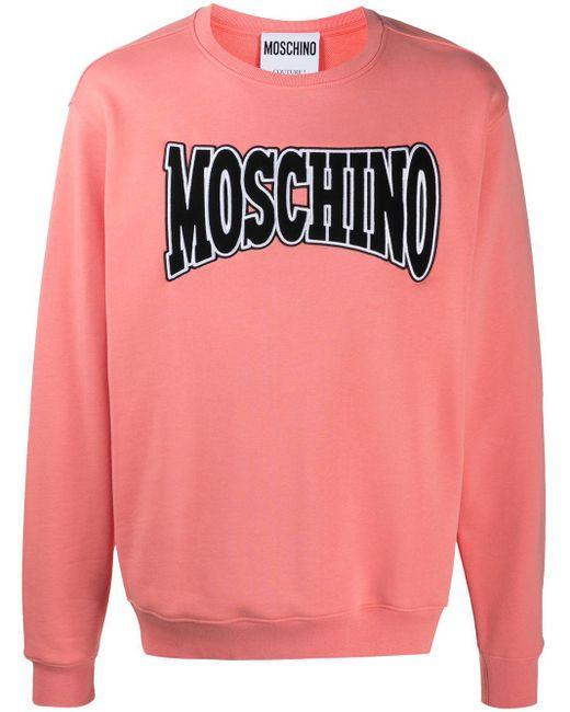 Толстовка С Вышитым Логотипом Moschino для него, цвет: Pink