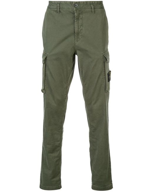 Stone Island Green Cargo Trousers for men