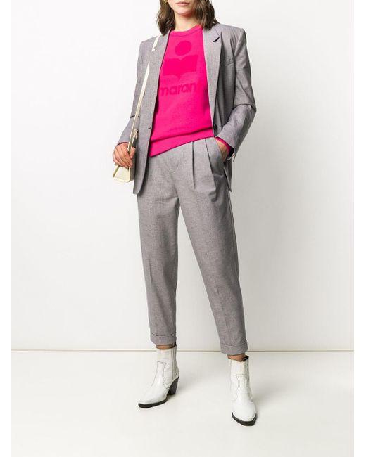 Pantalon à carreaux vichy Étoile Isabel Marant en coloris Purple