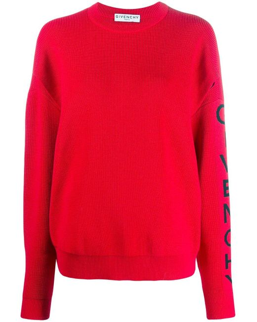 Pull à logo Givenchy en coloris Red
