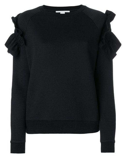 Stella McCartney   Black Ruffle Trim Sweatshirt   Lyst