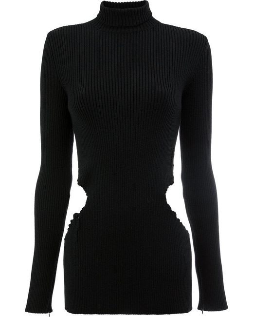 Yang Li - Black Cutout Turtleneck Sweater - Lyst