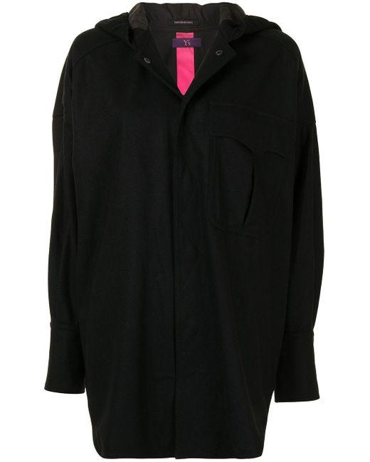 Пальто Оверсайз С Капюшоном Y's Yohji Yamamoto, цвет: Black