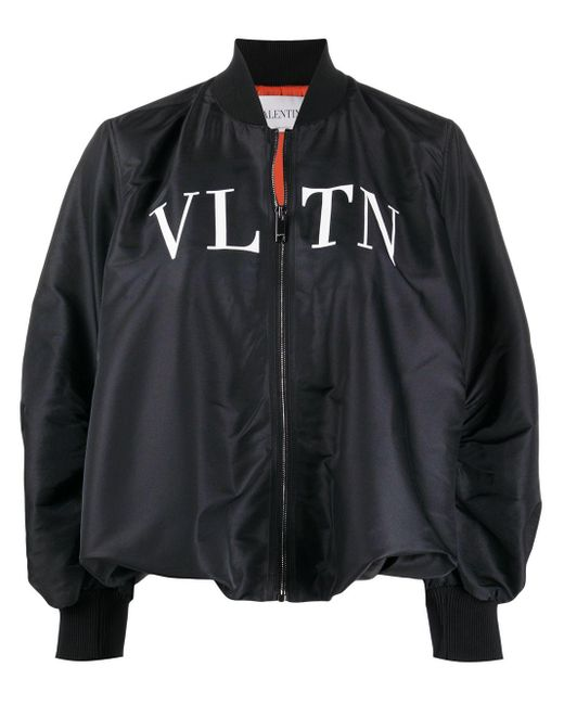 Valentino Vltn ボンバージャケット Black