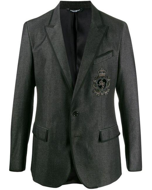メンズ Dolce & Gabbana パッチ ジャケット Black