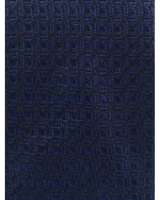 メンズ Dell'Oglio ジャカード ネクタイ Blue