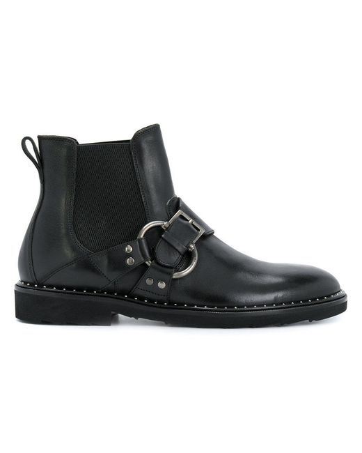 Dolce & Gabbana | Black Buckled Chelsea Boots for Men | Lyst