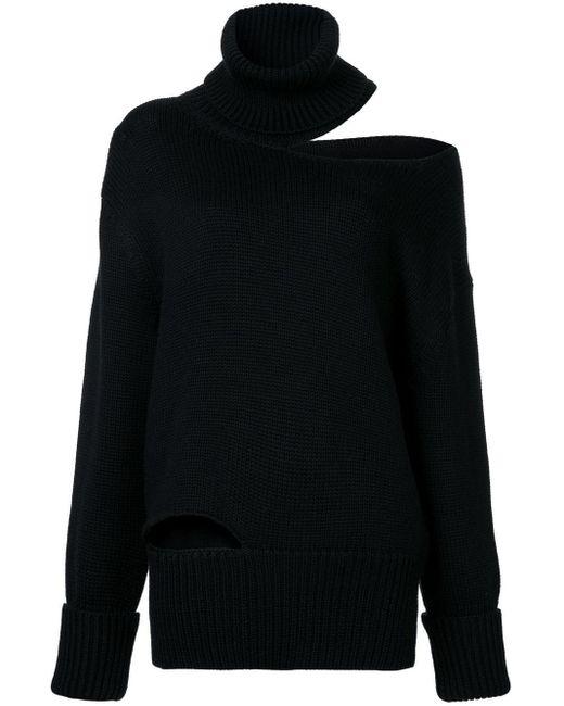 Monse カットアウト セーター Black