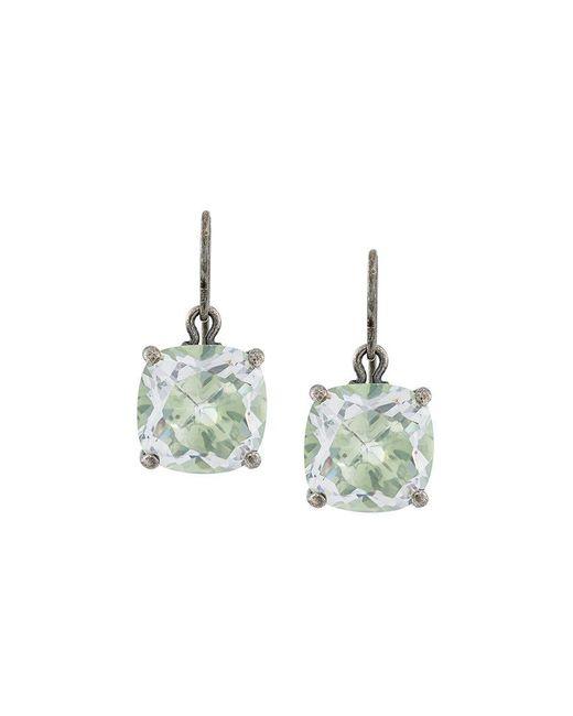 Bottega Veneta - White Stone Drop Earrings - Lyst