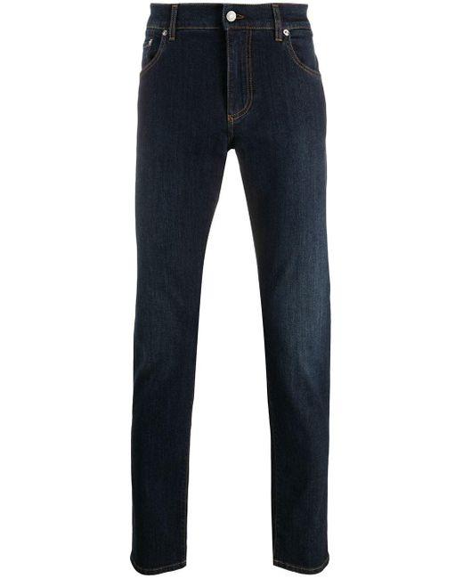 メンズ Dolce & Gabbana ロゴ スリムジーンズ Blue