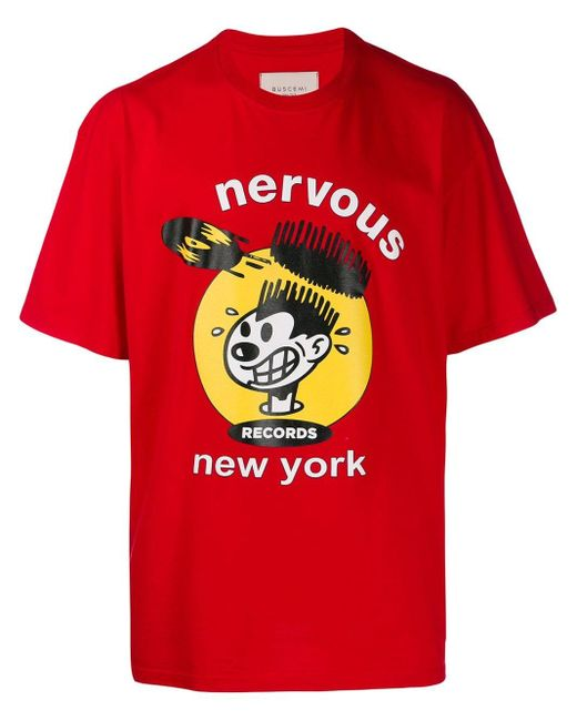 メンズ Buscemi Nervous Tシャツ Red