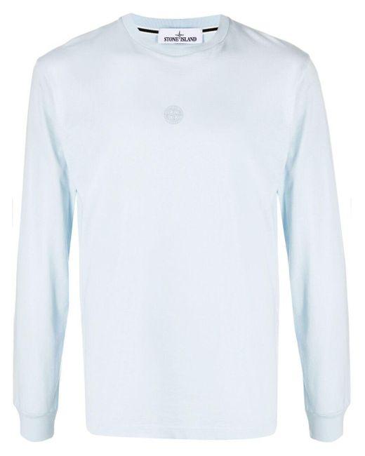 T-shirt à logo imprimé Stone Island pour homme en coloris Blue