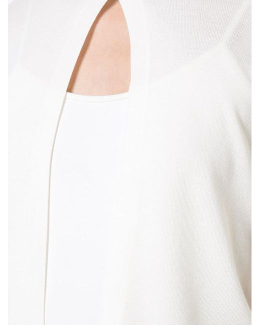 Akris Punto White Short-sleeved Cropped Cardigan