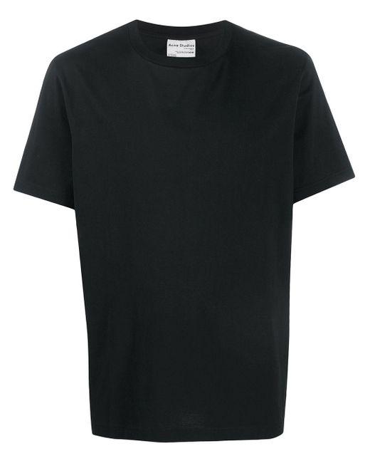 メンズ Acne クルーネック Tシャツ Black
