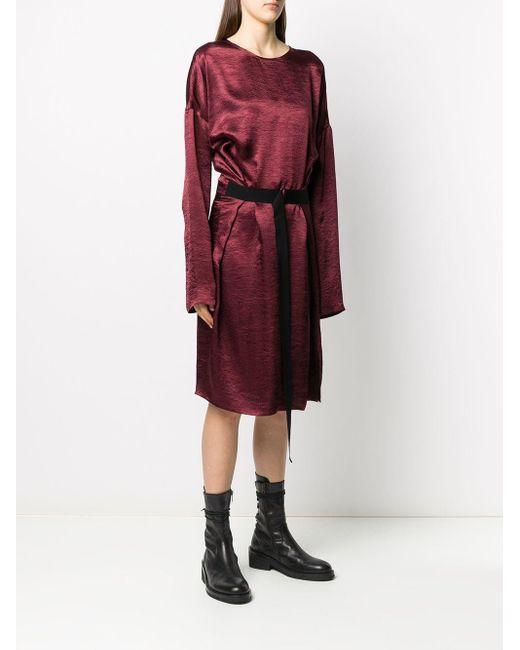 Ann Demeulemeester タイウエスト ドレス Red