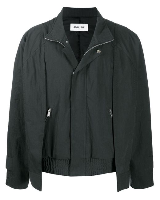 Ambush Bomberjacke im Layering-Look in Black für Herren