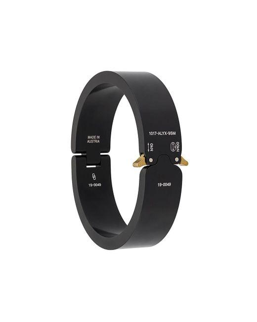 1017 ALYX 9SM Black Matte-finish Buckle Bracelet