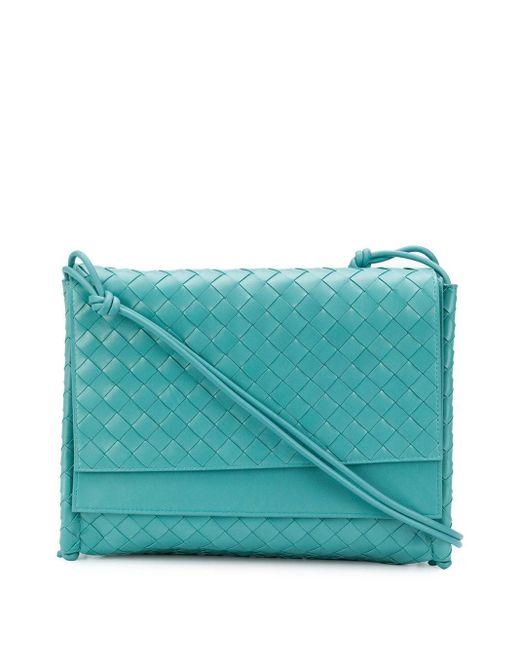 Bottega Veneta イントレチャート ショルダーバッグ Blue
