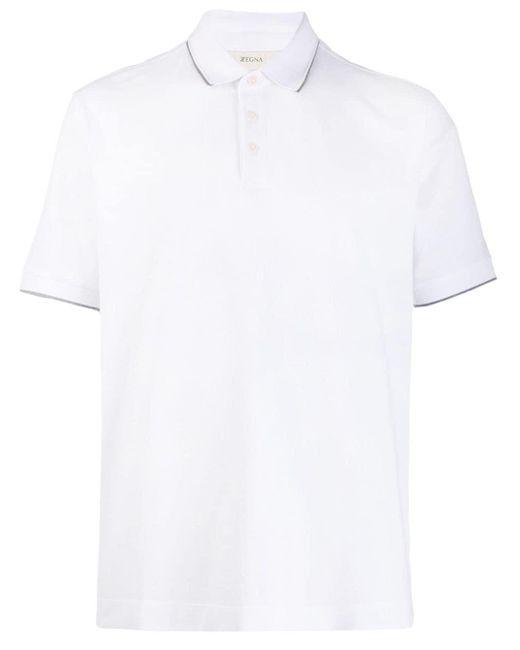 メンズ Z Zegna ロゴ ポロシャツ White