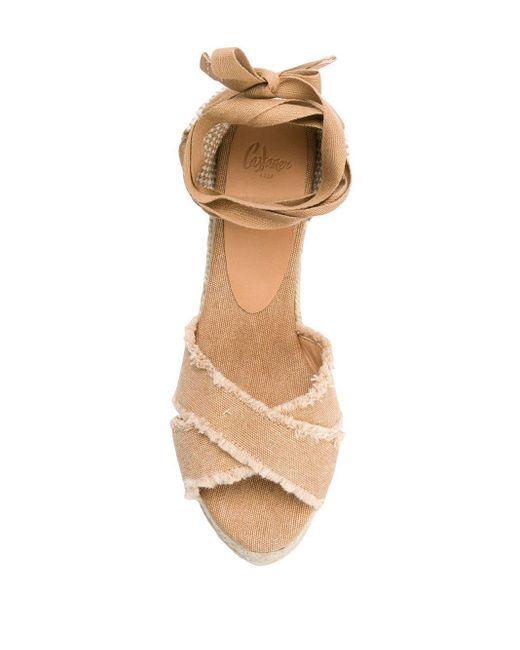 Castaner Brown 'Bluma' Wedge-Sandalen