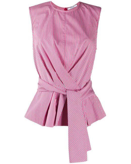 10 Crosby Derek Lam Top Pandora con motivo de rayas de mujer de color rosa 5uZQ4