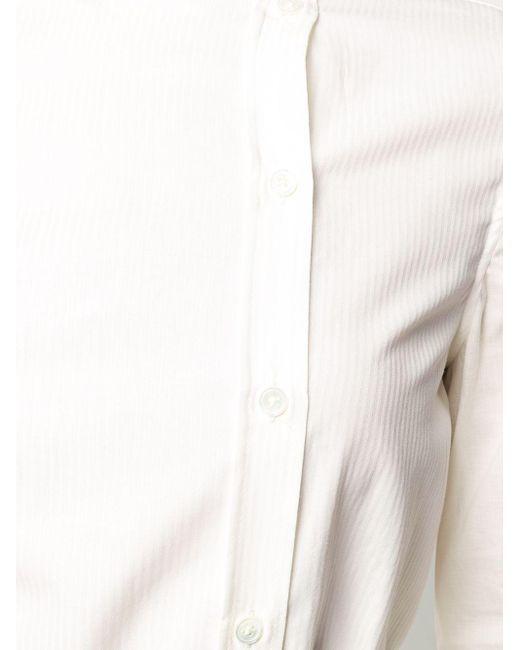 Ann Demeulemeester ストライプ タイウエストシャツ White