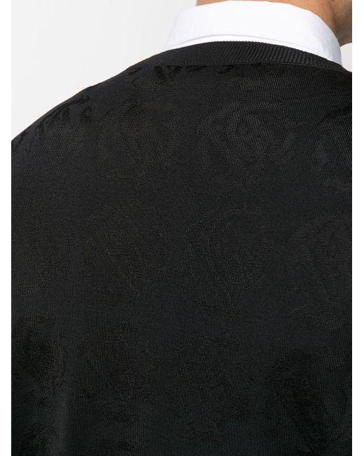 Джемпер С Жаккардовой Монограммой Roberto Cavalli для него, цвет: Black