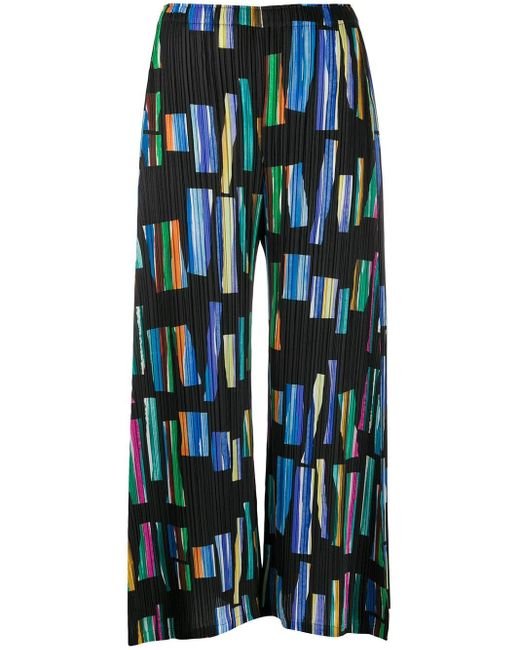 Pleats Please Issey Miyake Hopscotch Colours キュロット Black