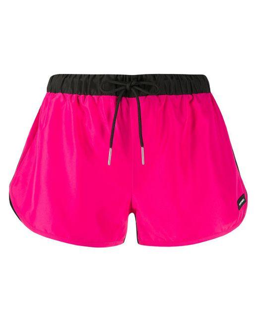 DIESEL カラーブロック ランニングショーツ Pink