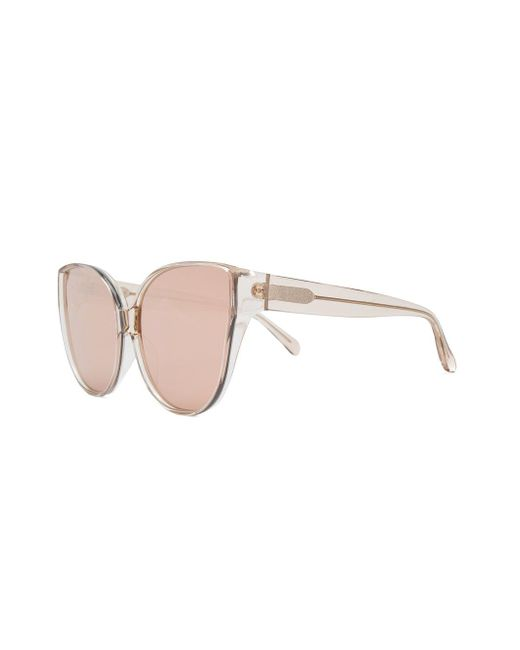 403ee458e5 ... Linda Farrow - Brown Cat Eye Sunglasses - Lyst ...