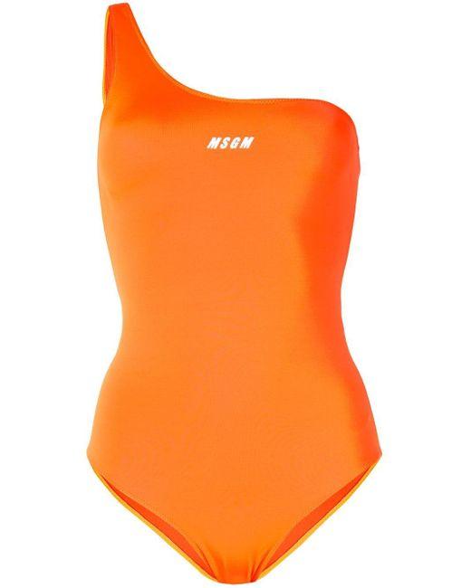 MSGM ワンショルダー 水着 Orange