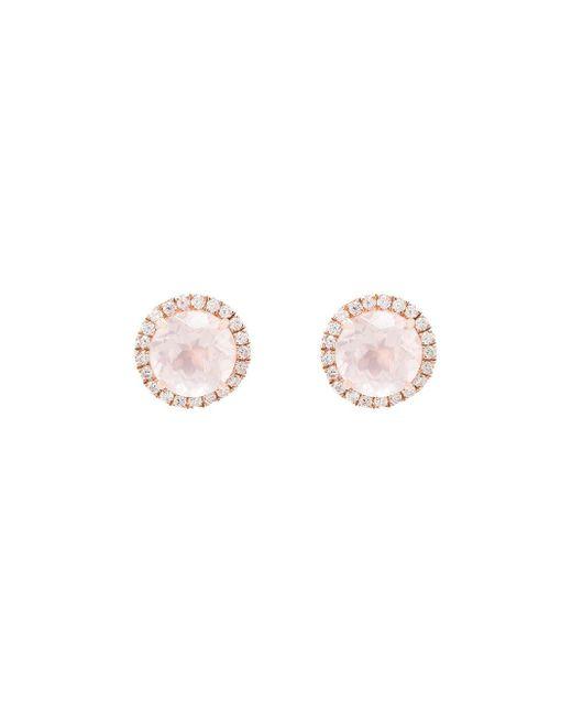 Dana Rebecca ダイヤモンド&クオーツ ピアス 14kローズゴールド Pink