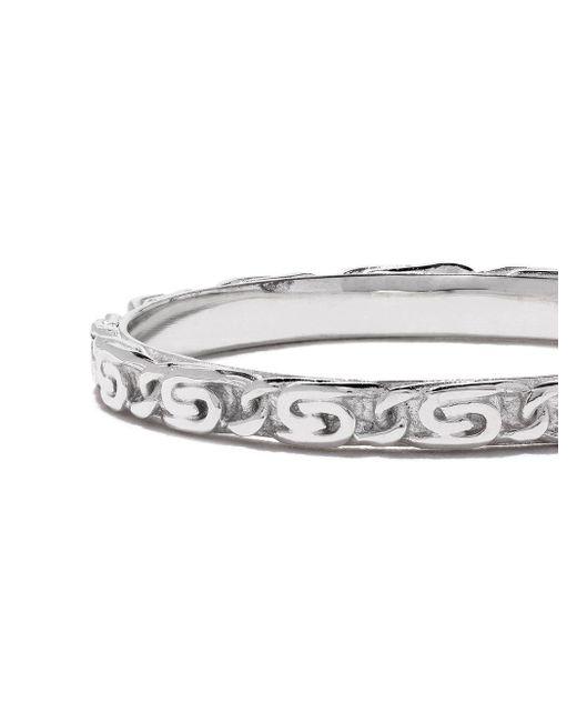 Кольцо Snail Diamond Chain Из Белого Золота Wouters & Hendrix, цвет: Metallic