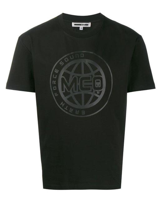 メンズ McQ Alexander McQueen ロゴ Tシャツ Black