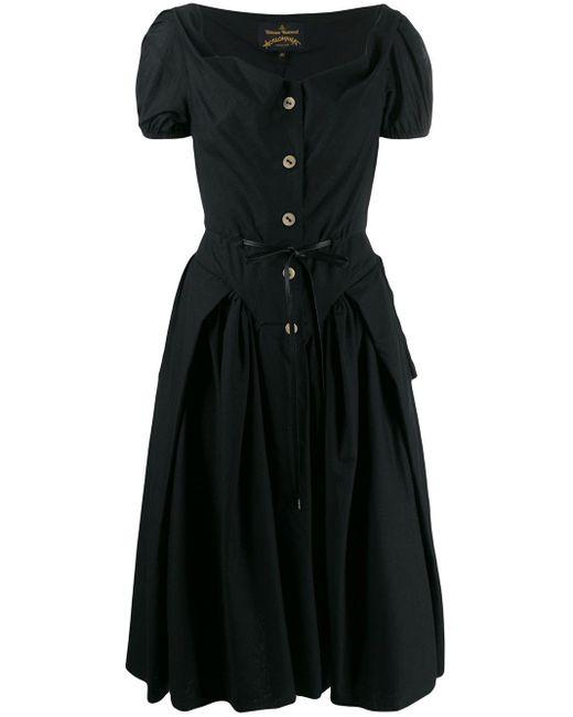 Vivienne Westwood Anglomania Black Saturday Corset-style Dress