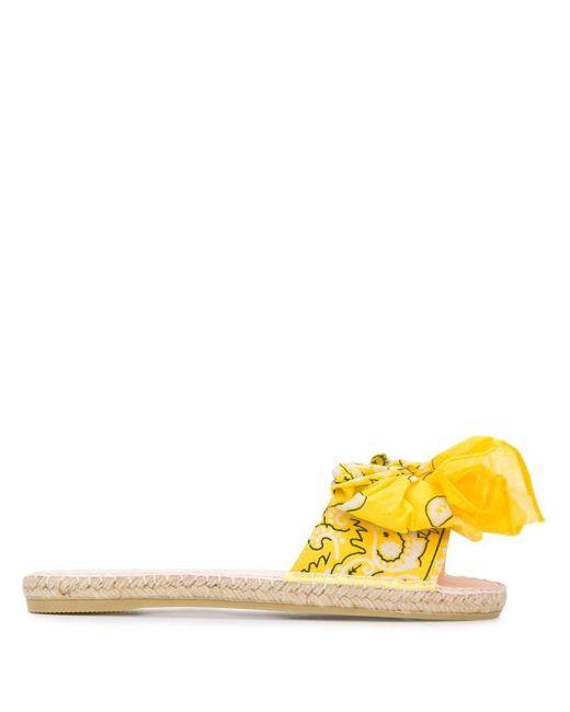 Manebí ノットディテール サンダル Yellow