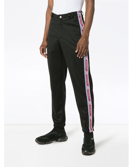 45974c272d0 ... Givenchy - Black Pantalon de jogging à bandes logo for Men - Lyst ...